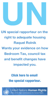 United Nations special rapporteurs bedroom tax email
